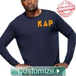 Custom Athletic Performance T-Shirt (Mens Long Sleeve) - EMBROIDERED with Lifetime Guarantee