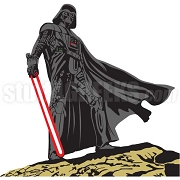 Darth Vader Standing on Stone Patch
