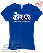 Definition of PURRfection Fitted T-Shirt, Royal - EMBROIDERED with Lifetime Guarantee