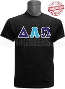 Delta Alpha Omega Greek Letter T-Shirt, Black - EMBROIDERED with Lifetime Guarantee
