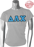 Delta Lambda Chi Greek Letter T-Shirt, Gray - EMBROIDERED with Lifetime Guarantee
