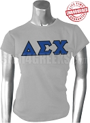 Delta Sigma Chi Greek Letter T-Shirt, Gray - EMBROIDERED with Lifetime Guarantee