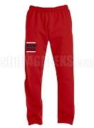Devastating Diva Run DMC Screen Printed Sweatpants, Red (AB)