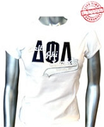 D-Phi-L Sorority, Inc. Fitted T-Shirt, White - EMBROIDERED with Lifetime Guarantee