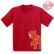 Elephant Mascot T-Shirt, Red - EMBROIDERED with Lifetime Guarantee