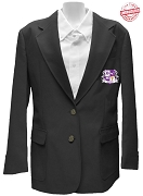 Elogeme Adolphi Blazer Jacket with Crest, Black
