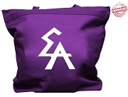 Elogeme Adolphi Tote Bag with Logo Letters, Purple