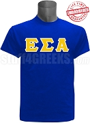 Epsilon Sigma Alpha Greek Letter T-Shirt, Royal Blue - EMBROIDERED with Lifetime Guarantee