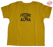 Future Alpha Phi Alpha T-shirt in Gold - EMBROIDERED with Lifetime Guarantee