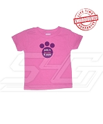Pretty in Hot Pink and Purple Sigma Lambda Gamma T-Shirt - EMBROIDERED with Lifetime Guarantee