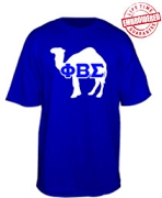 Phi Beta Sigma Camel T-Shirt, Royal - EMBROIDERED with Lifetime Guarantee