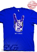 Phi Beta Sigma Hand Crest, Royal Blue T-Shirt - EMBROIDERED with Lifetime Guarantee