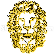 Fire Sign Lion Patch