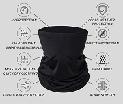 Custom Face Mask - Multipurpose Neck Gaiter Face Shield Head Tube Bandana, Unisex
