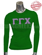 Gamma Gamma Chi Greek Letter T-Shirt, Forest Green - EMBROIDERED with Lifetime Guarantee