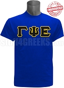Gamma Psi Epsilon Greek Letter T-Shirt, Royal Blue - EMBROIDERED with Lifetime Guarantee