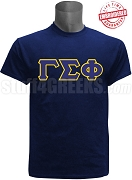 Gamma Sigma Phi Greek Letter T-Shirt, Navy Blue - EMBROIDERED with Lifetime Guarantee