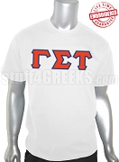 Gamma Sigma Tau Greek Letter T-Shirt, White - EMBROIDERED with Lifetime Guarantee