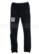 Groove Phi Groove Run DMC Screen Printed Sweatpants, Black (AB)