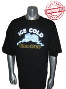 Ice Cold Since 1906 Black T-Shirt - EMBROIDERED with Lifetime Guarantee