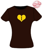 Iota Sweetheart Ladies Fitted Tee, Chocolate - EMBROIDERED with Lifetime Guarantee