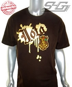 Iota Metallic Vintage Tee, Brown - EMBROIDERED with Lifetime Guarantee