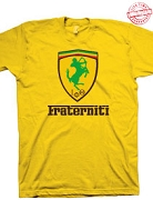 Iota Phi Theta Fraterniti (Ferrari-Style), Gold T-Shirt - EMBROIDERED with Lifetime Guarantee