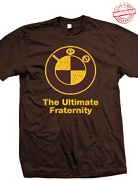 Iota Phi Theta The Ultimate Fraternity T-Shirt, Brown - EMBROIDERED with Lifetime Guarantee