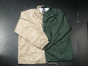 Clearance: Tan/Forrest Green Two-Tone Coaches Jacket, Size 2XL, Blank