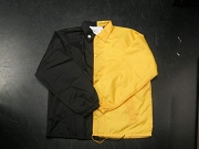 Clearance: Black/Yellow Gold Two-Tone Coaches Jacket, Size LARGE, Blank