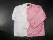 Clearance: White/Pink Two-Tone Coaches Jacket, Size XL, Blank