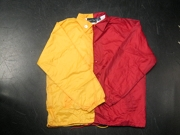 Clearance: Yellow Gold/Red Two-Tone Coaches Jacket, Size LARGE, Blank