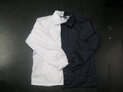 Clearance: White/Navy Blue Two-Tone Coaches Jacket, Size LARGE, Blank