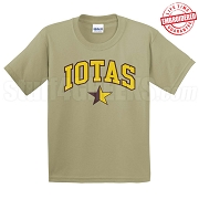Iotas Star T-Shirt, Tan - EMBROIDERED with Lifetime Guarantee