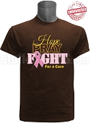 Iota Phi Theta Hope, Pray, Fight Breast Cancer Awareness T-Shirt, Brown - EMBROIDERED with Lifetime Guarantee