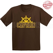 Captain T-Shirt, Brown/Gold - EMBROIDERED with Lifetime Guarantee