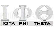 Iota Phi Theta Chrome Greek Letters Car Decal (NS)