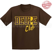 Deuce Club T-Shirt, Brown/Gold - EMBROIDERED with Lifetime Guarantee