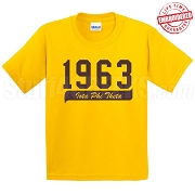 1963 Iota Phi Theta T-Shirt, Gold - EMBROIDERED with Lifetime Guarantee