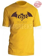 Iota Phi Theta Fratman T-Shirt with Greek Letters, Gold - EMBROIDERED with Lifetime Guarantee