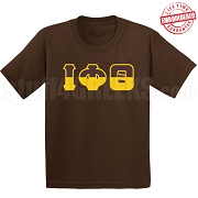 Iota Half Letters T-Shirt, Chocolate - EMBROIDERED with Lifetime Guarantee