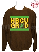 Iota Phi Theta HBCU Grad Crewneck Sweatshirt, Brown - EMBROIDERED with Lifetime Guarantee