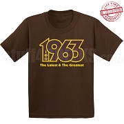 Latest and Greatest T-Shirt, Brown/Gold - EMBROIDERED with Lifetime Guarantee