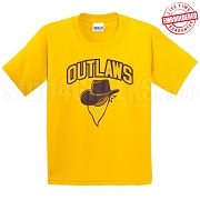 Outlaws T-Shirt, Gold - EMBROIDERED with Lifetime Guarantee