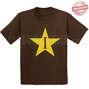 I-Star T-Shirt, Chocolate - EMBROIDERED with Lifetime Guarantee