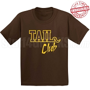 Tail Club T-Shirt Brown/Gold - EMBROIDERED with Lifetime Guarantee