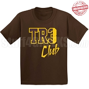 Tre Club T-Shirt, Brown/Gold - EMBROIDERED with Lifetime Guarantee