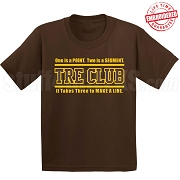Brown/Gold Tre Club (Gen1) T-Shirt, Brown - EMBROIDERED with Lifetime Guarantee