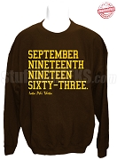 Iota Phi Theta Founding Date Sweatshirt, Brown - EMBROIDERED with Lifetime Guarantee