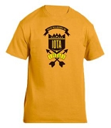 Iota Phi Theta School Daze Screen Printed T-Shirt, Gold
